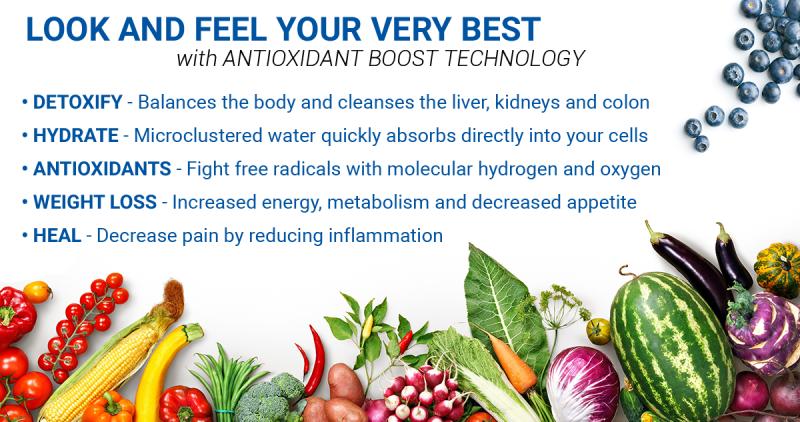 Alkaline antioxidant ionizer banner