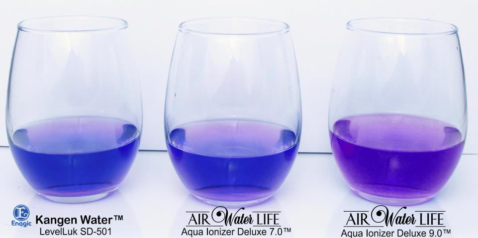 kangen water vs air water life ph test results