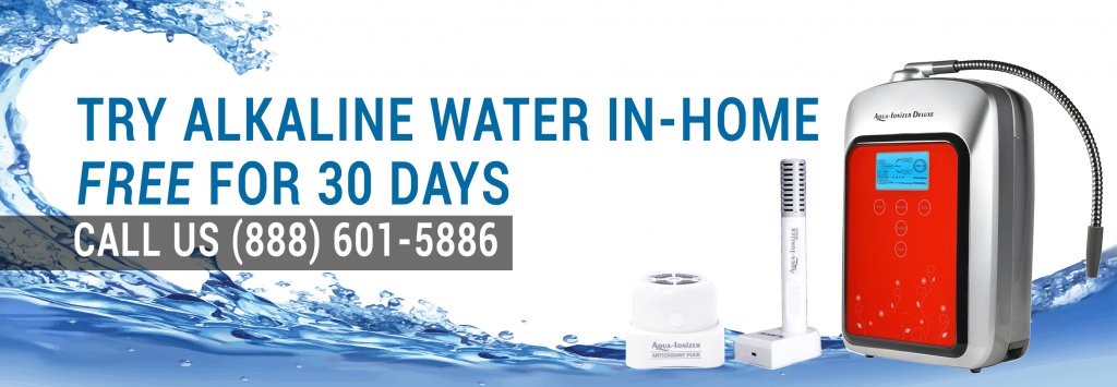 try alkaline water banner