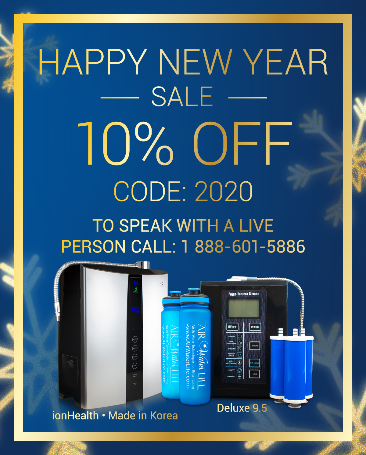 Air water life new year sales banner mobile