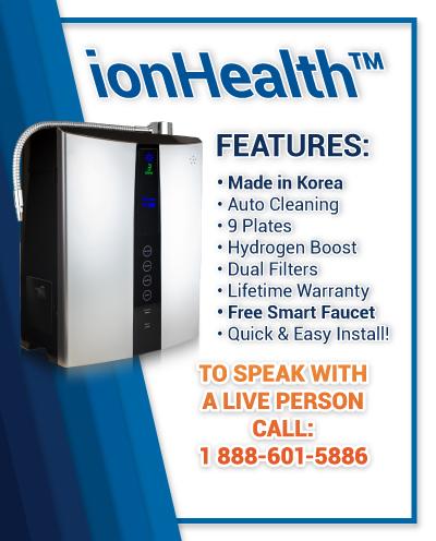 ionHealth water machine banner mobile